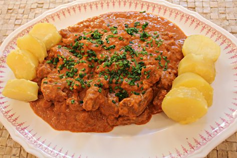 Gulash for Austrian cuisine