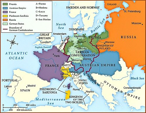 Europe after Congress of Vienna
