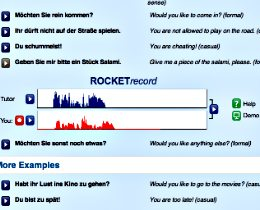 Learn German Software: Rocket German, voice comparison, RocketRecord